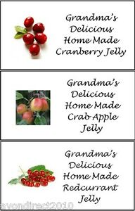 SMALL PERSONALISED JAM/JELLY JAR/POT CONSERVE PRESERVE LABELS 21 Per Sheet