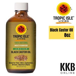 100% Pure Natural Hair Skin Jamaican Black Castor Oil 8oz/237ml - Glass Bottle