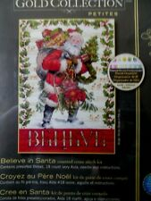 "Cross stitch Kit Gold Collection "" Believe in Santa"" New by Dimensions"