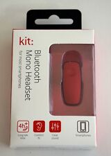 Kit Universal Mono Bluetooth Handsfree Headset Red