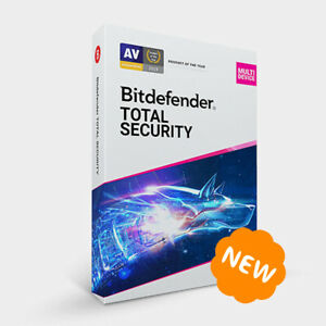 Bitdefender Total Security Multi-Device 2021 - 5 Devices 1 Year