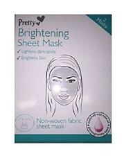 ** PRETTY BRIGHTENING SHEET MASK 2 MASKS ROSE OIL NEW ** NON WOVEN FABRIC