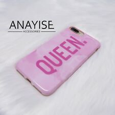 Queen Marble Fashion Novelty iPhone 7 and 8 Pink Phone Case