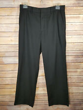Merona Black Men's Flat Front Work Slacks Dress Pants 34 x 30