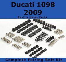 Complete Fairing Bolt Kit body screws fasteners For Ducati 1098 2009 Stainless