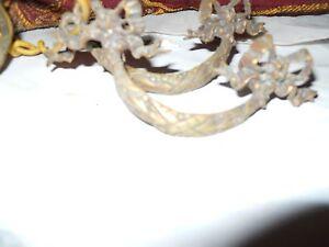 vintage brass drawer pulls set of 4 ORIGNAL PATINA