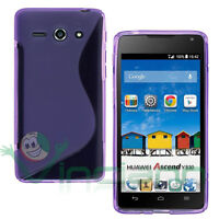 Pellicola+Custodia cover Wave VIOLA per Huawei Ascend Y530 case flessibile TPU