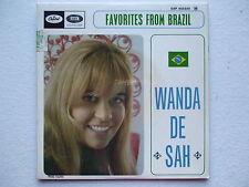 WANDA DE SAH - AGUA DE BEBER+3 45/7 EP BRAZIL JOBIM MPB JAZZ VOCAL BOSSA NOVA EX