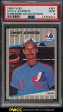 1989 Fleer Randy Johnson ROOKIE RC, MARLBORO #381 PSA 9 MINT
