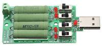 USB Last Widerstand 4A Resistor Switch Einstellbar Umschaltbar Messen Belasten