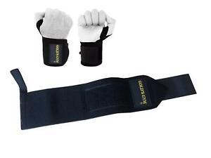 Golds Gym Wrist Wraps/Brace Weight Lifting Training Gym Straps Support Bar Grip