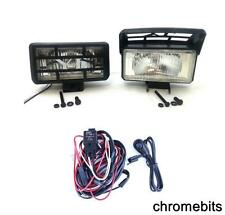 Bull Nudge Bar Grille Roof Rail Front Fog Lights Lamps 12V Car SUV 4x4  + WIRING