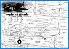"Model Airplane Plans (UC): Douglas AD-2 Skyshark 28"" for .19-.49 (Musciano)"