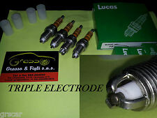 X4 Candele Candela LUCAS bougie SPARK PLUG Zündkerze MERCEDES 3 ELECTRODE