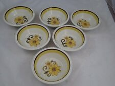6 PCS NUSTONE INTERNATIONAL SILVER CO. FIESTA C1002 JAPAN SOUP OR CEREAL BOWLS