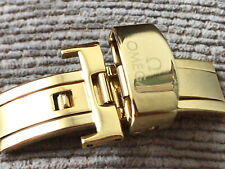 NEW GOLDEN butterfly clasp 18mm OMEGA