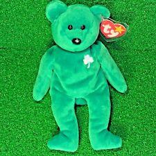 MWMT 1997 Retired Erin The Bear Rare Original TY Beanie Baby - Extra Space Error