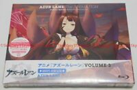 New Azur Lane Vol.3 First Limited Edition Blu-ray Booklet Serial Code Case Japan