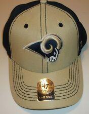 St. Louis Rams Ball Cap Hat~'47 Brand~Gold Navy~Mesh~Adjustable~FREE Shipping