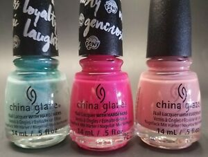 China Glaze Nail Lacquer Limited Edition My Little Pony Special 3 Color Girls