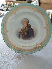 """Antique Sevres Hand Painted Portrait Plate Louis Xvi Signed Debrie France 9.5"""""""