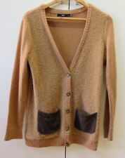 Stylish Tan Wool Cardigan from Sportsgirl - Size S