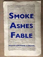 William Kentridge : Smoke, Ashes, Fable, Hardcover by Koerner, Margaret K. (E...