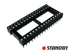 15pcs Wide 32 pin, DIL / DIP IC Sockets, Pitch 2,54mm