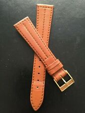"""Vintage Jaeger  Le Coultre  """"UNROC"""" 14mm gold plated buckle 19MM Watch Band"""