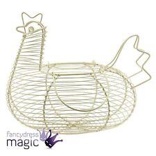 Gisela Graham Wire Egg Collection Home Storage Hen Chicken Wire Basket Carrier