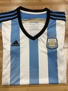 Women's Adidas Argentina Home Soccer Jersey / Medium / World Cup 2014 /