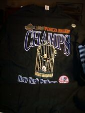 Vintage New 1996 World Series Champs New York Yankees Black Tee Shirt Xl Nwt