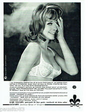 PUBLICITE ADVERTISING 1016  1963  Lejaby soutien gorge pigeonnant Catherine