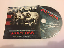 STOP-LOSS (John Powell) OOP 2008 Varese Promo Soundtrack Score OST CD EX