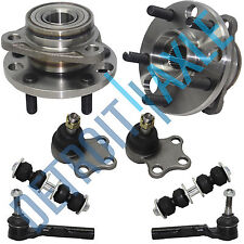 2 Front Wheel Hub and Bearing + 2 Lower Ball Joint + 2 Tie Rod + 2 Sway Bar Link