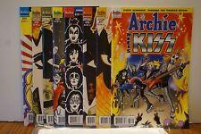 8x ARCHIE Meets KISS Comic SET 1 2 3 4 + VARIANTS~Gene PAUL Peter ACE ~Riverdale