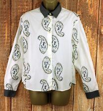 Toast Damen Boho Paisley Boxy Langarm Sommer Shirt Bluse UK 12