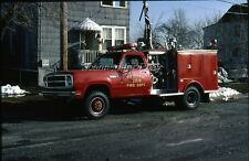 Mar 84 Burnham Illinois Fire Truck  Apparatus Slide  35mm SLIDE