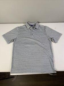 Men's Footjoy Short Sleeve Polo Shirt Size M Striped Polyester Blend Multicolor
