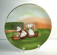 The Sun Bonnet Babies Royal Bayreuth Germany 1974 Plate Monday WASHING