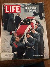 Life Magazine February 5, 1965 Churchill's Funeral Good Condition