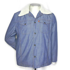 Vintage 60s 70s Levis Mens M Sherpa Lined Denim Jacket Coat Butterfly Collar