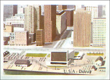 IMAGE CARD City of Detroit Michigan USA North America Amérique du Nord 60s