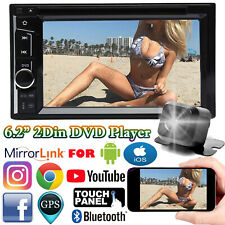 6.2 Inch Car Stereo Radio AUX Bluetooth Mirror Link Touch Screen Player + Camera