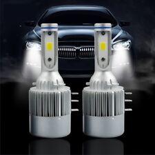 COPPIA LAMPADE AUTO MOTO C6 H15 LED 7600L 72W 6000K BIANCO FREDDO FARI LAMPADINE