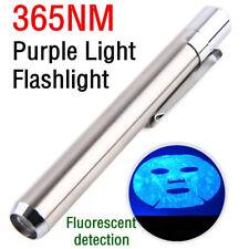 365nm Purple Light Flashlight Pen Light UV Fluorescent Agent LED Flashlight Lamp
