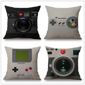 amera Print Sofa Decorative  Vintage Games Controller Cushion Cover  Pillow Case