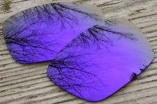 Purple Violet Mirrored Polarized Sunglass Replacement Lenses for Oakley Hijinx