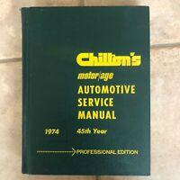1974 Chilton's Automotive Service Repair Manual Professional Edition Motor Age