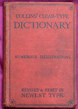 More details for collins' clear-type dictionary revised & reset in newest type pub.1930
